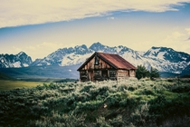Old Cabin in the Sawtooths Idaho