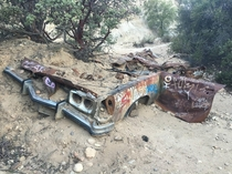 Old Car Found at the Morrison Caves Malibu CA