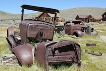 Old cars in Bodie CA