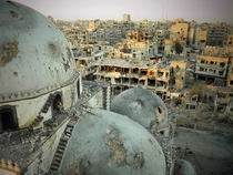Old-centuries Khalid bin Walid mosques mausoleum destroyed by war - al-Khalidiya neighbourhood of Homs Syria