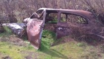 Old Chevy half swallowed by the earth near The Dalles Dam I nicknamed it Artex