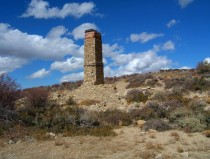 Old chimney in northern Nevada ghost town