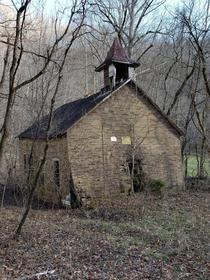 Old church down a dirt road across from my house Southwestern Virginia
