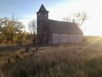 Old Church in Monowi NE Americas smallest incorporated town with one resident
