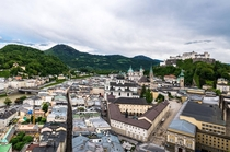 Old City and Fortress of Salzburg Austria OC
