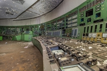 Old control room of an abandoned coal-fired power plant  - Germany