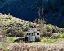 Old Farmhouse on the Northrup Canyon Trail Almira WA