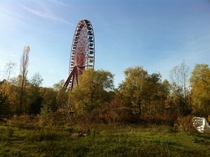 Old ferris wheel in Spreepark Berlin