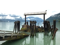 Old ferry dock Howe Sound BC