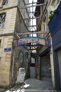 Old Gas Station in the centre of Bordeaux France