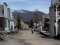 Old gold rush town of Barkerville British Columbia
