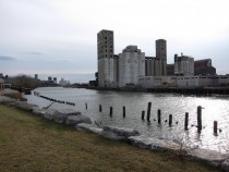 Old grain elevators in Buffalo NY