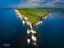 Old Harry Rocks from ft above  by Ryan Howell