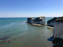 Old Harry Rocks UK My partner couldnt believe his country could be this beautiful and blue