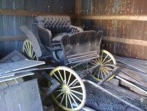 Old Horse pulled wagon found in abandoned barn off a highway in Southeast Missouri   x
