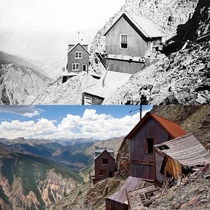 Old Hundred Mine boarding house and tramway buildings Silverton CO