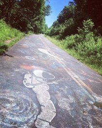 Old  in Birdsboro Pennsylvania its slowly becoming the new Centralia Graffiti Highway minus the underground coal mine fire