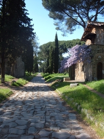 Old infrastructure remains of the Via Appia in Rome near Quarto Miglio Its one of the oldest Roman road nd century BC