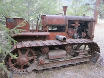 Old International Harvester TD dozer sitting in the woods