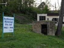 Old jail in Koshkonong Missouri Declared a historical landmark this jail was once set on fire by prisoners