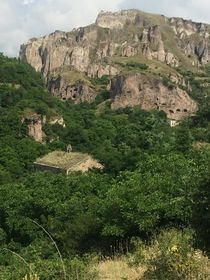 Old Khndzoresk is an abandoned village in Armenia made up of ancient cave dwellings some connected to each other by ropes and ladders It was reportedly still inhabited until the s when the Soviet Union forced the villagers out deeming their settlement unc