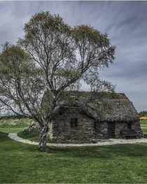 Old Leanach Cottage on Culloden Battlefield in Scotland
