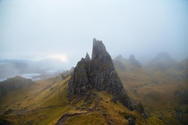 Old Man Of Storr Isle Of Skye Scotland Think a cloud was passing through at the time OC
