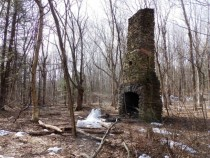 Old Mill Chimney in the Woods  OC
