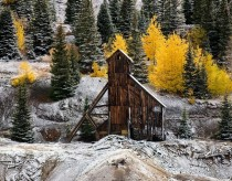 Old mine on Red Mountain pass in Ouray Colorado