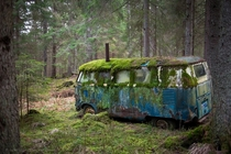 Old mossy VW bus that was once someones home Photo by DonHenrik  more in comments