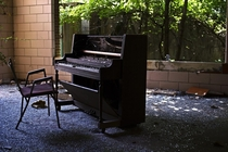 Old piano at a childrens asylum in MD x OC