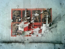 Old propaganda posters from the Communist Party of Canada - found underneath the facade of a local building during renos