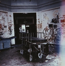Old psych hospital in Thiells New York featuring lots of graffiti