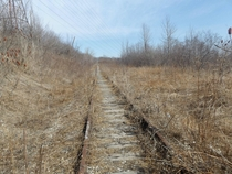 Old rail line in Toronto Canada