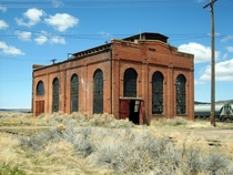 Old rail yard building in Evanston Wyoming