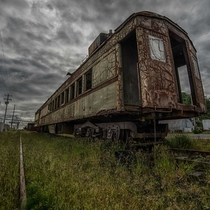 Old Railcar in Astoria Oregon