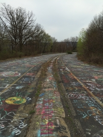 Old Route  in Centralia PA Road abandoned as coal mine fire below it and in the area still raging since early s