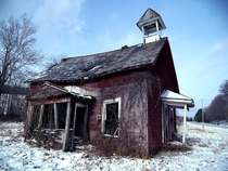 Old rustic one room schoolhouse Licking County Ohio by Jack Waxman