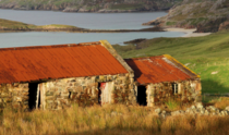 Old sheep byre in Oldshoremore Sutherland Scotland