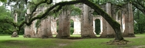 Old Sheldon Church Ruins Beaufort County South Carolina