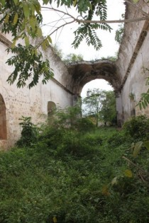 Old Spanish church taken back by nature Tizimin Mexico