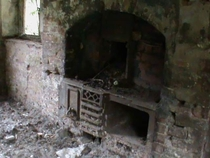 Old stove in an abandoned house Nr Ironbridge UK