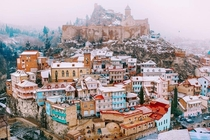 Old Tbilisi after March snow