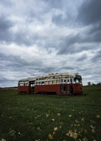 Old Toronto street car rotting away in the Canadian countryside - Sony A