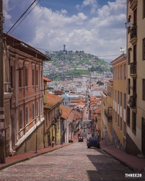 Old Town neighborhood in Quito Ecuador