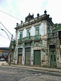 Old townhouse in the formal royal capital of Brazil