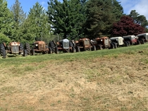 Old tractors somewhere in Washington USA