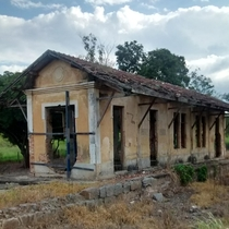 Old train station in Brazil Built in  Deactivated in  I took this photo in  but it got repaired in  so it actually doesnt look like this anymore