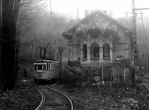 Old tram station in Hungary