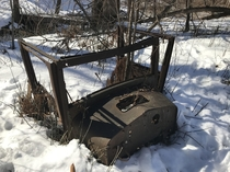 Old Truck Cab Found Rusting Away in the Woods of Southern Maine  OC